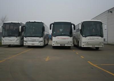 Bussen op rij